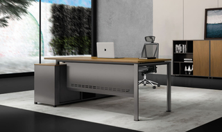 Modern Business L Shape Executive Office Table Design (HC-Carter)
