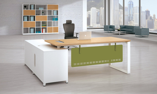 Office Executive Steel Desk L-Shape Table with Drawers (HC-75H)