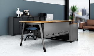 Unique Design Wooden Office Manager Executive Computer Table (HC-101A)