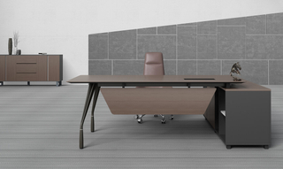 Fashion Simple Design L-Shape Manager Office Computer Table (HC-87)